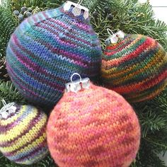NobleKnits Yarn Shop  - Kalamazoo Knits Deck the Balls Christmas Ornament Knitting Patterns, $6.95 (http://www.nobleknits.com/products/Kalamazoo-Knits-Deck-the-Balls-Christmas-Ornament-Knitting-Patterns.html)