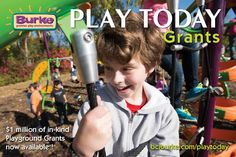 At Burke we understand the difficulties that schools, cities and playground providers are faced with in today's tough budget environment. We are excited to announce that $1 million of in-kind grants have become available so you can PLAY TODAY by purchasing our industry-leading playgrounds. Apply for a Play Today Grant by filling out the form below and tell us why you should be considered! www.buellrecreation.com