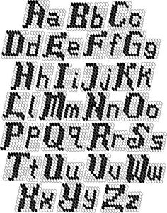 Plastic Canvas Letters: Ravelry: Tapestry Crochet Alphabet pattern by Leslie Robinson-Stone Plastic Canvas Letters, Plastic Canvas Stitches, Plastic Canvas Ornaments, Plastic Canvas Christmas, Plastic Canvas Crafts, Crochet Alphabet, Crochet Letters, Alphabet Charts, Alphabet Beads