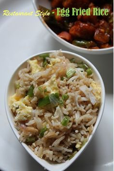 Egg fried rice — Very simple to make super delicious. Eggs, rice and vegetables tossed in Chinese sauces give the touch of restaurant style food to this rice. Make it on days that are active, and impress your nearest and dearest with a fabulous. Fried Rice Recipe Indian, Chinese Egg Fried Rice, Chinese Food, Rice Recipes, Indian Food Recipes, Vegetarian Recipes, Cooking Recipes, Chef Recipes, Chinese Vegetables