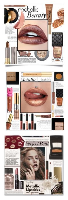 """""""Winners for High Shine: Metallic Lipstick"""" by polyvore ❤ liked on Polyvore featuring beauty, Too Faced Cosmetics, Stila, Lord & Berry, Yves Saint Laurent, Urban Decay, Gucci, metallic, MetallicBeauty and metalliclipstick"""