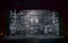 The Massive Tragedy of Madame Bovary (Chalk Wall). Scenic design by Conor Murphy.