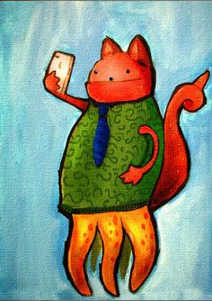 """Example #22 """"Selfie"""" - daily creature with favorite new colored pencils from Czech Republic"""