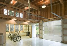 Rainbow Rock - modern - Garage And Shed - Seattle - Balance Associates Architects.garage door could be used for loft bedroom separation?