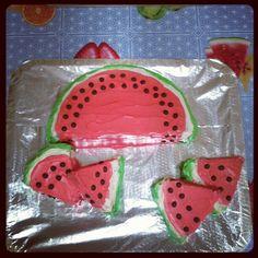 Sean's super awesome watermelon birthday cake....made by me!;) - @florencediamond- #webstagram