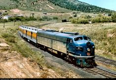 RailPictures.Net Photo: TP 31 Missouri Pacific EMD E8(A) at Palmer Lake, Colorado by Bill Marvel