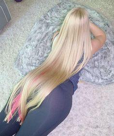 Easy Hairstyles For Long Hair, Long Hair Cuts, Long Hair Styles, Hair Wings, Beautiful Blonde Hair, Super Long Hair, Silky Hair, How To Draw Hair, Hair Highlights