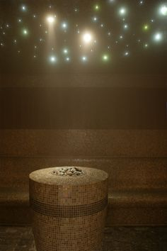 Ohh, steam room with LED lights that change colors. How #relaxing! #spa #steamroom