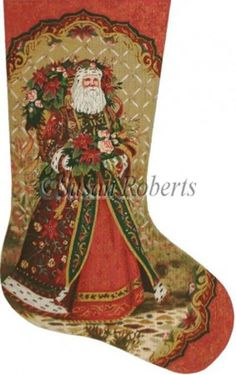 needlepointus world class needlepoint santas bouquet needlepoint stocking canvas stockings axs321