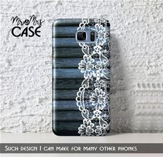 Blue wood&lace case for Note 7-Galaxy note 5-Grand by MrMrsCASE