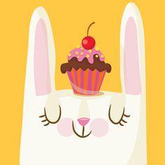 Cupcake Bunny: figgy pudding