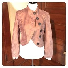 SALE ITEM: Lulu & Veronica Jacket Beautiful leather, mauve with gold sheen.  So soft, very pretty and feminine.  Very clean, nonsmoking home.  Great condition.  Price qualifies for a bundle deal, see my bundle listing for more details! Lulu & Veronica Jackets & Coats