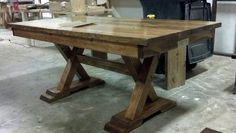 #PinItToWinIt and #James+James 6ft trestle table all early american with apron