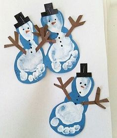 Christmas Crafts for infants Basteln Winter - christmascrafts Kids Crafts, Preschool Christmas Crafts, Daycare Crafts, Winter Crafts For Kids, Baby Crafts, Holiday Crafts, Snowman Crafts, Felt Crafts, Kids Diy