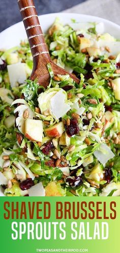 brussel sprout recipes Looking forward for a perfect salad this Thanksgiving or Christmas dinner Learn to make simple shaved brussels sprouts salad recipe with sweet, salty,crunchy and tangy taste! Its a perfect salad for any meal. Save this pin later! Chicken Salad Recipes, Healthy Salad Recipes, Vegetarian Recipes, Cooking Recipes, Healthy Chicken, Simple Salad Recipes, Simple Salads, Healthy Meals, Clean Eating
