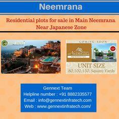 Residential plots for sale in Main Neemrana Near Japanese Zone - https://goo.gl/oVXv59 Gennext Team Helpline no : +91 8882335577 Email : info@gennextinfratech.com Web. : http://www.Gennextinfratech.com