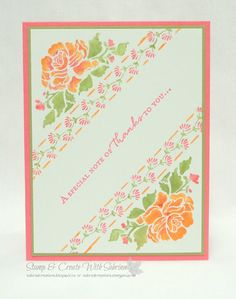 Stamp & Create With Sabrina: Floral Phrases - Flirty Flamingo & Peekaboo Peach
