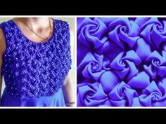 Low and High Smocking Frock (Rose Design) - YouTube