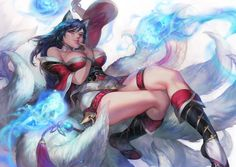 ahri animal_ears aoin cleavage garter kitsune league_of_legends no_bra tail League Of Legends Ahri, Ahri League, League Of Legends Characters, Ahri Wallpaper, Free Desktop Wallpaper, Wallpapers, 1080p Wallpaper, Wallpaper Downloads, Ahri Lol