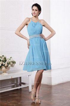 A-Line Sheath/Column Scoop Chiffon Evening Dresses - IZIDRESSES.COM at IZIDRESSES.com