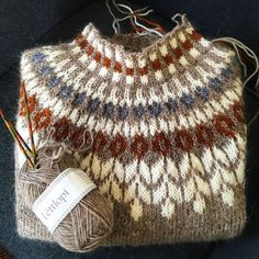 Knitting Patterns Yarn herminehesse: Icelandic Sweaters (my favies to make) Fair Isle Knitting, Hand Knitting, Knitting Sweaters, Knitting Machine, Vintage Knitting, Knitting Designs, Knitting Projects, Knitting Tutorials, Ropa Free People