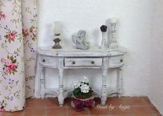 Dollhouse miniature sideboard. Dollhouse console. by MinisbyAngie