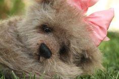 Mohair teddy bear. http://www.kimbearlys.com