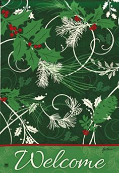 BreezeArt Christmas Scrolls Garden Flag 36387 ** Details can be found by clicking on the image.