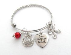 TEACH Love INSPIRE TEACHER Gift teacher by MyBlueSnowflake on Etsy