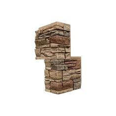 GenStone Stacked Stone Desert Sunrise 12 in. x 42 in. Faux Stone Siding - The Home Depot Stone Siding Panels, Stone Veneer Siding, Faux Stone Veneer, Faux Stone Siding, Stone Veneer Panels, Stacked Stone Panels, Faux Stone Panels, Square Columns, Stone Columns