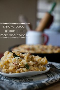 Spicy Green Chile, Smoky Bacon, 3 Cheese Grown Up Mac and Cheese - A Southern Fairytale Bacon Recipes, Pasta Recipes, Cooking Recipes, Chili Recipes, Top Recipes, Vegetarian Cooking, Family Recipes, Cheese Recipes, Yummy Recipes