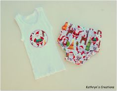 Boy's Christmas Nappy Cover Set - Size 0 (more sizes available to order)
