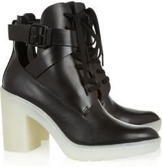 Alexander Wang Lace-up leather boots. WANT.
