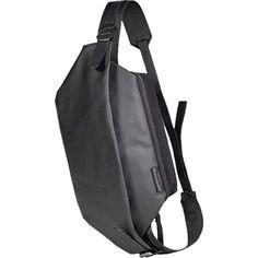Cote&Ciel Isarau Coated Canvas Sling Bag | Black