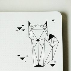 Geometric Fox by Bujo Nina (@bujo_nina) on Instagram