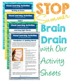 Are you looking for some great visual activities to keep your visual learner engaged this summer? From practicing sight words to writing stories and essays your child is bound to have fun learning with these activities at Bettefetter.com