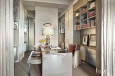 Modern Metallic Convertable Office Alcove wallcovering- patty madden