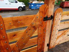 - Landhek hout - Poort lariks douglas - Houten poort boerderij Leather, Lush