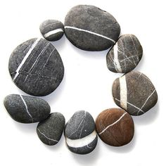Sea stones with the worry lines :)