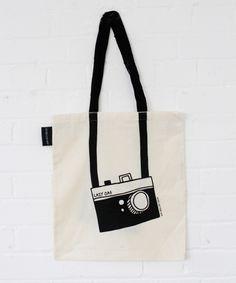 Lazy Oaf Camera Tote Bag