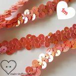 Paillettenband elastisch 10mm rosa 1m