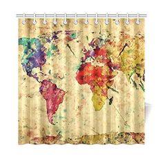 World map background waterproof shower curtainbath curtain size world map background waterproof shower curtainbath curtain size 60 x 72 shower curtain httpamazondpb00qrql3hkrefcmswrpidpf gumiabroncs Gallery