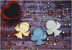 Angels Christmas Ornaments Rustic decor Wooden от AylilAntoniu