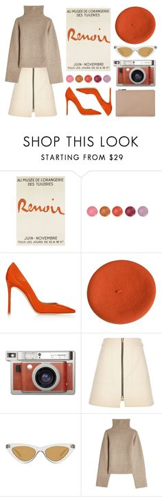 """""""Dreamsicle: Pops Of Orange"""" by eva-jez ❤ liked on Polyvore featuring Gianvito Rossi, Lomography, River Island, Le Specs, Khaite, Whistles, orangeoutfit and popsoforange"""
