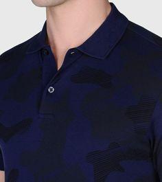 ZEGNA SPORT: Polo Manches Courtes Piqué Col polo Fermeture avec boutons B Bleu, Détail 3 - 37524875DR