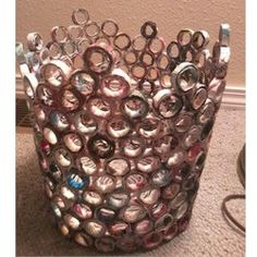 Recycled Magazine Wastebasket Craft