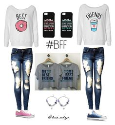 """""""Best friends inspired twin outfit"""" by lexiahyo ❤ liked on Polyvore featuring Converse and Samsung"""