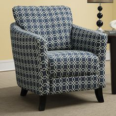 Monarch Specialties Inc. Angled Kaleidoscope Arm Chair & Reviews | Wayfair