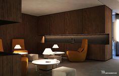 Projekt wnętrza pomieszczenia socjalnego z miejscami do odpoczynku. www.bartekwlodarczyk.com
