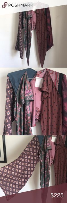 Maison Margiela Kimono Top Margiela kimono sleeve silk top! Gorgeous silk print, a one of a kind piece that is truly beautiful with any look! Perfect condition and a wardrobe special piece! Fits small-Medium. Maison Martin Margiela Tops